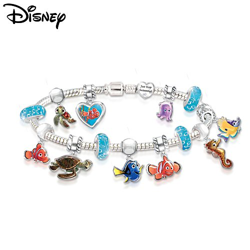 Disney•Pixar FINDING NEMO 'Just Keep Swimming' Charm Bracelet