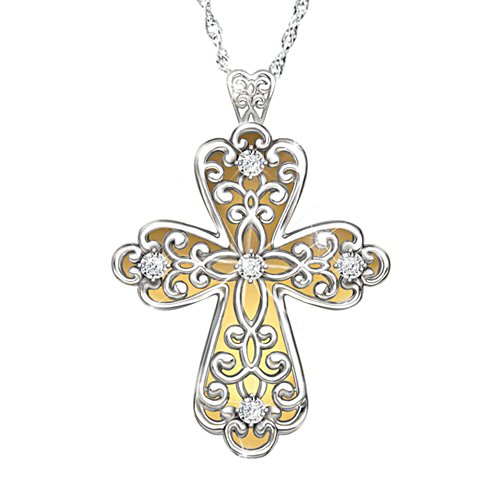 'Glowing Light Of Faith' Diamond Pendant