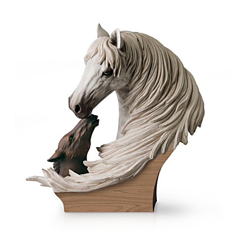 'A Tender Bond' Horse Sculpture