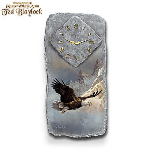 Ted Blaylock 'Breaking The Clouds' Eagle Art Wall Clock