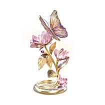 'Glimmering Gardens' Butterfly Lit Sculpture