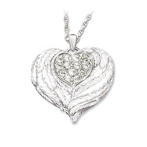 'Wings Of Love' Granddaughter Silver Pendant