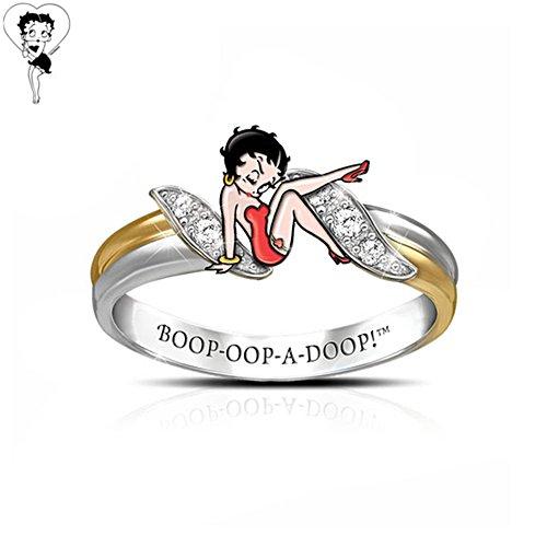 'Betty Boop™' Enamel Ring