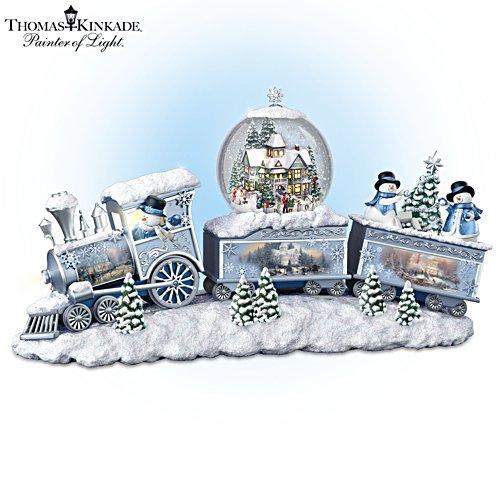 Sneeuwpop-express – treinsculptuur