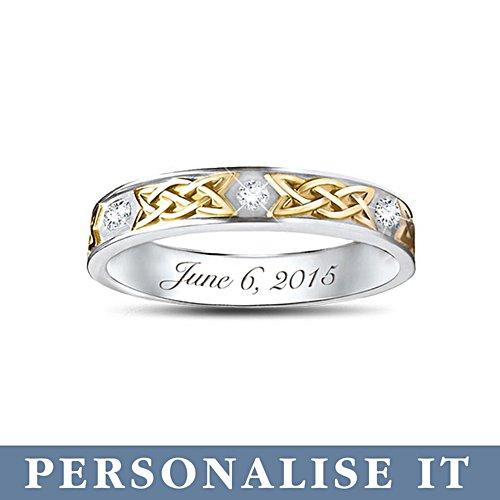 'Irish Trinity Knot' His Personalised Wedding Ring Set