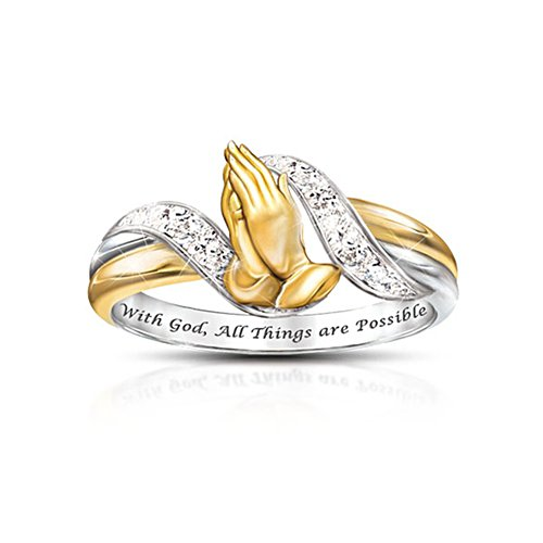 'Faith's Embrace' Diamond Ring