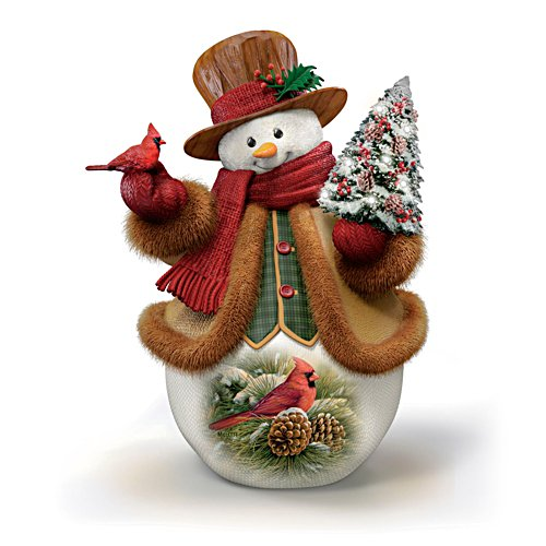 'December Dawn – Cardinal' Snowman Figurine