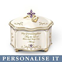 'My Granddaughter, May The Lord Bless You' Personalised Music Box