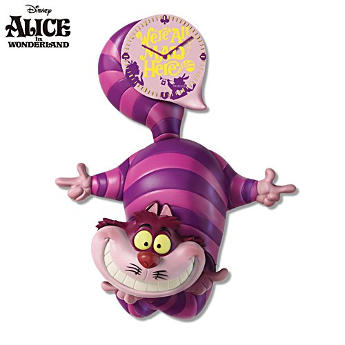 Disney 'Alice In Wonderland' Cheshire Cat Wall Clock