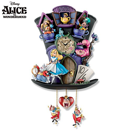 Alice In Wonderland 'Mad Hatter' Cuckoo Clock
