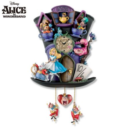 Officially Licensed Disney Alice In Wonderland Wall Clock