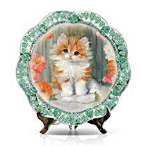 'Precious Blossom' Kitten Collector Plate
