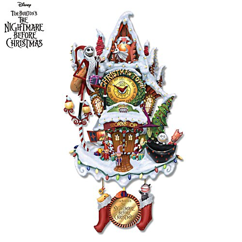 Disney Tim Burton 'The Nightmare Before Christmas' Musical Wall Clock