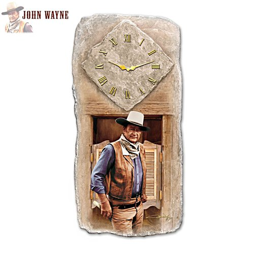 John Wayne 'All Time Legend' Clock