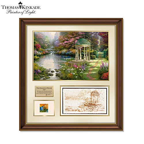 'Garden Of Prayer Tribute' Canvas Print – Featuring Thomas Kinkade's Actual Paint