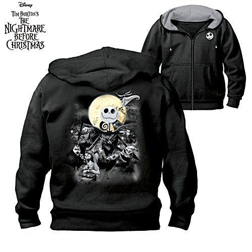 Disney Tim Burton 'The Nightmare Before Christmas' Men's Hoodie