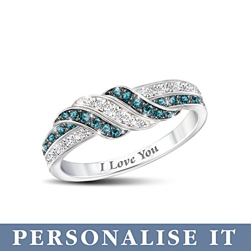 'Embrace The Love' Personalised Diamond Ring