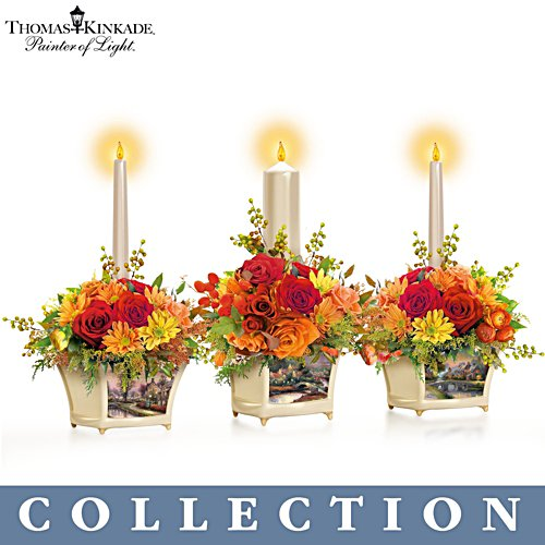 Thomas Kinkade 'Autumn Blessings' Centrepiece Collection