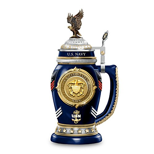U.S 'Navy Values' Heirloom Porcelain® Stein