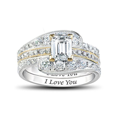 Loves Devotion' 3-Band Stacking Diamonesk® Ring