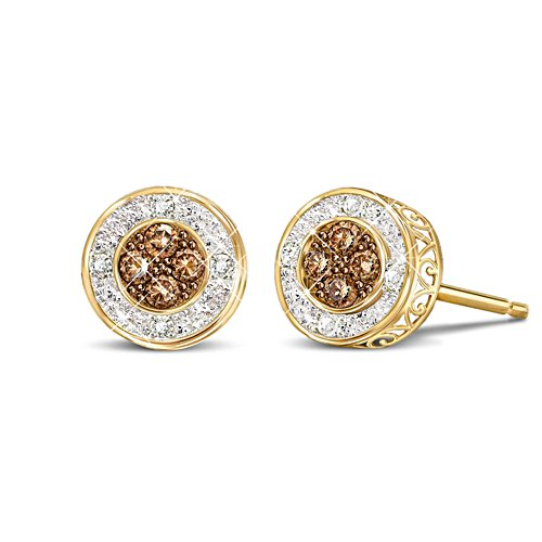 'All That Glamour' Mocha Diamond Earrings