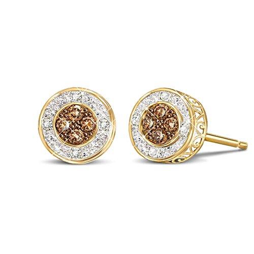 'All That Glamour' Mocha Diamond Earrings
