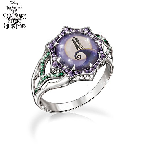 Disney Tim Burton's The Nightmare Before Christmas 'Magic At Midnight' Ladies' Ring