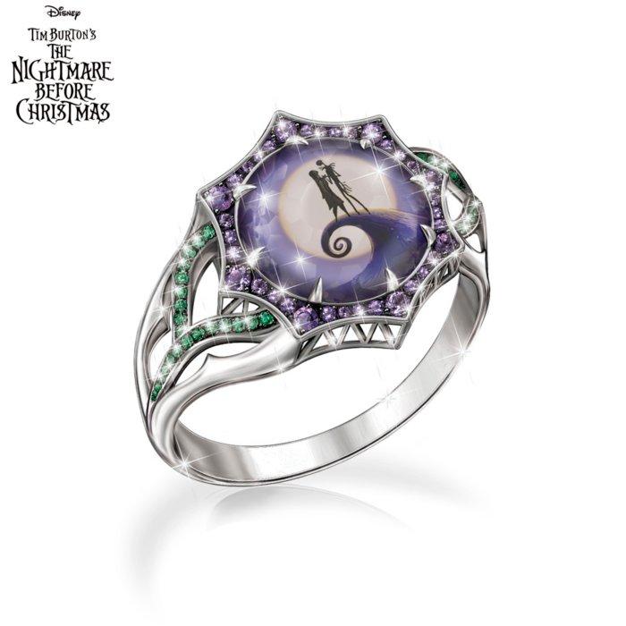 Christmas Ring.Disney Tim Burton S The Nightmare Before Christmas Magic At Midnight Ladies Ring