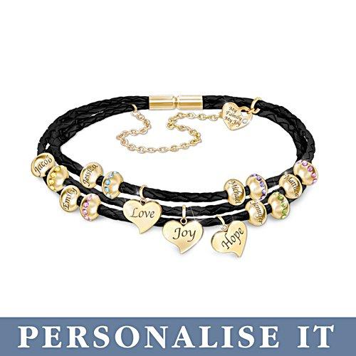 'United By Love' Personalised Birthstone Bracelet
