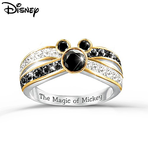 Disney 'Sparkling Magic' Mickey Mouse Diamonesk® Ring