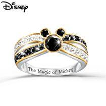 Disney 'Sparkling Magic' Mickey Mouse Diamonesk® Ring