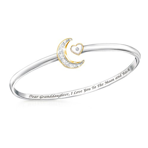 'I Love You To The Moon And Back' Granddaughter Diamond Bracelet