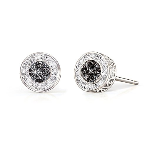 'All That Glamour' Midnight Black Diamond Ladies' Earrings