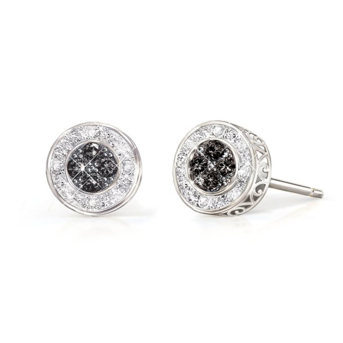 All That Glamour Midnight Black Diamond Las Earrings
