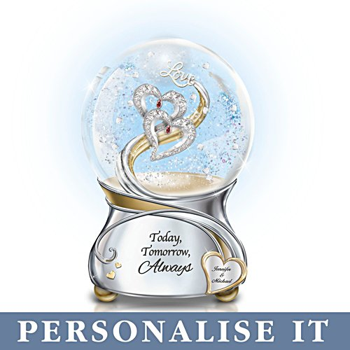 'Loving You Today Tomorrow Always' Personalised Glitter Globe