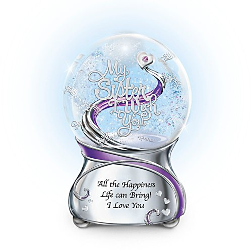 'My Sister, I Wish You' Musical Glitter Globe
