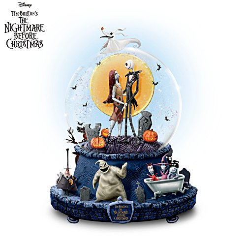 Disney Tim Burton 'The Nightmare Before Christmas' Glitter Globe