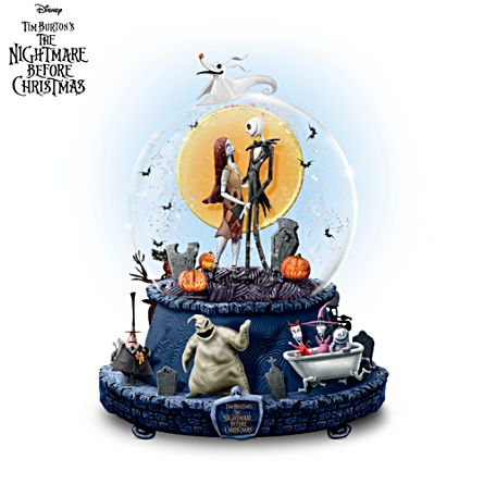 disney the nightmare before christmas glitter globe