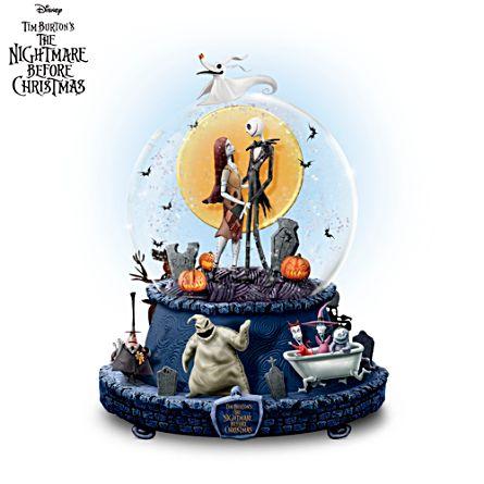 disney the nightmare before christmas glitter globe - Nightmare Before Christmas Music Box