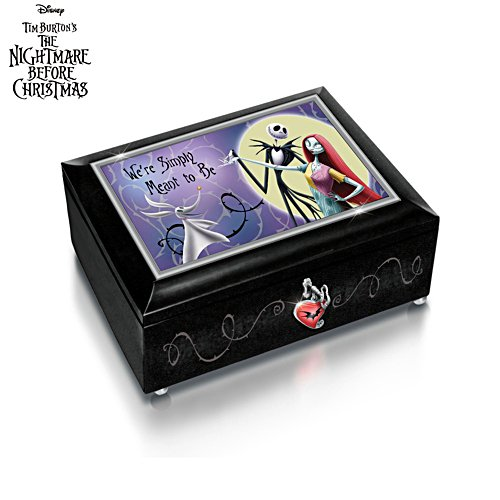 Disney Tim Burton 'The Nightmare Before Christmas' Illuminated Heirloom Music Box