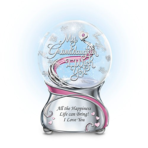 'My Granddaughter, I Wish You' Glitter Globe