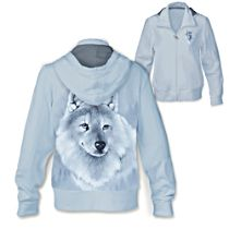 'Silver Sovereign' Wolf Ladies' Hoodie