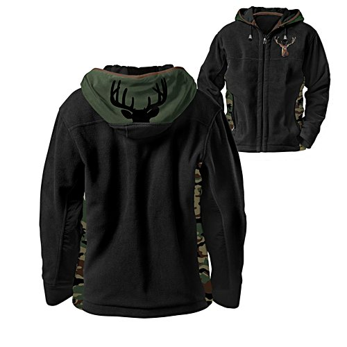 'Forest King' Men's 10-Point Buck Hoodie