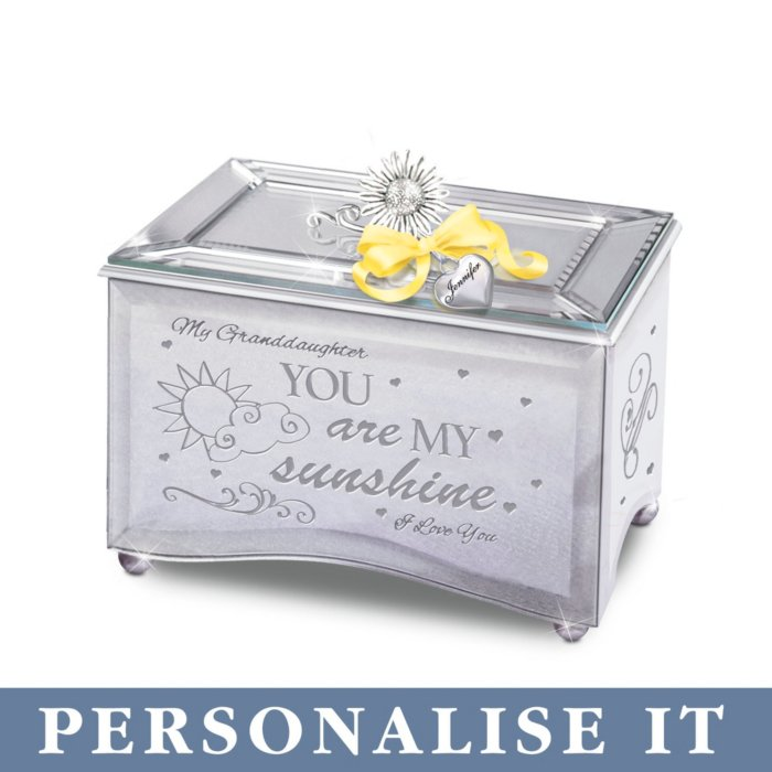 Granddaughter You Are My Sunshine Personalised Music Box