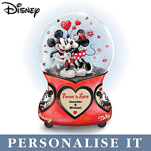 Disney 'Forever In Love' Personalised Glitter Globe