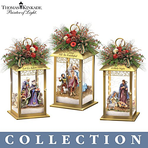 Thomas Kinkade 'Illuminated Blessings' Nativity Lantern Collection