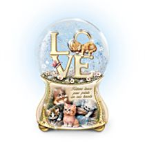 Jürgen Scholz 'Kittens Leave Pawprints On Our Hearts' Glitter Globe