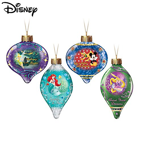 Disney 'Dazzling Dreams' Illuminated Ornament Set Two