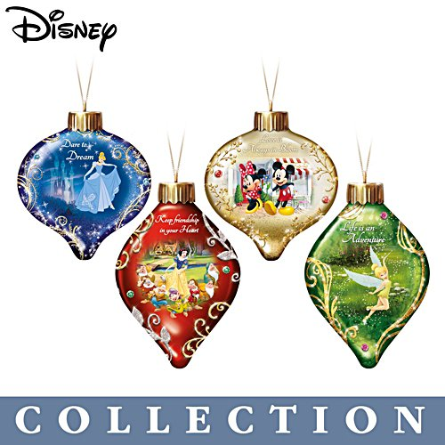 Disney 'Dazzling Dreams' Luminary Glass Ornament Collection