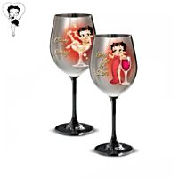 Betty Boop™ 'Classy And Sassy' Wine Glasses: Set One